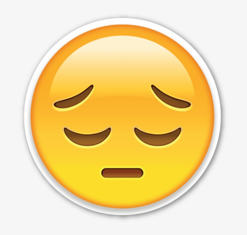 Apple - Sad Emoji Sticker Transparent PNG - 720x720 - Free Download
