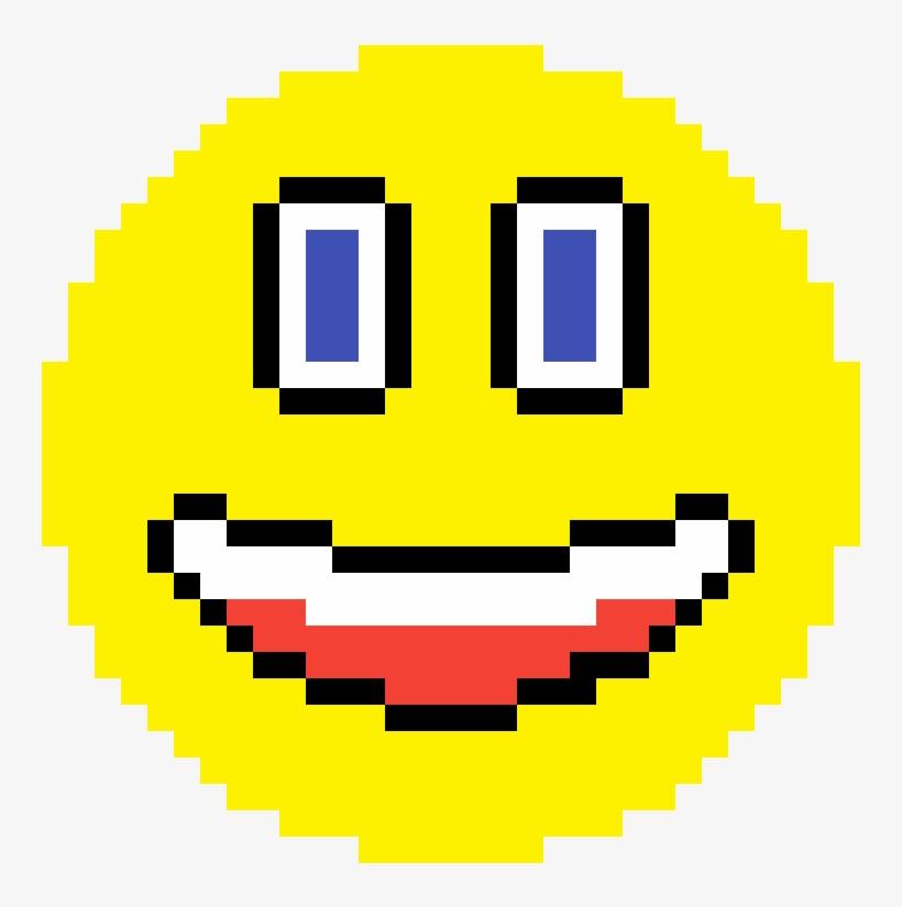 Pixilart Weird Smiley Emoji By Randombunny Anime Pixel Art