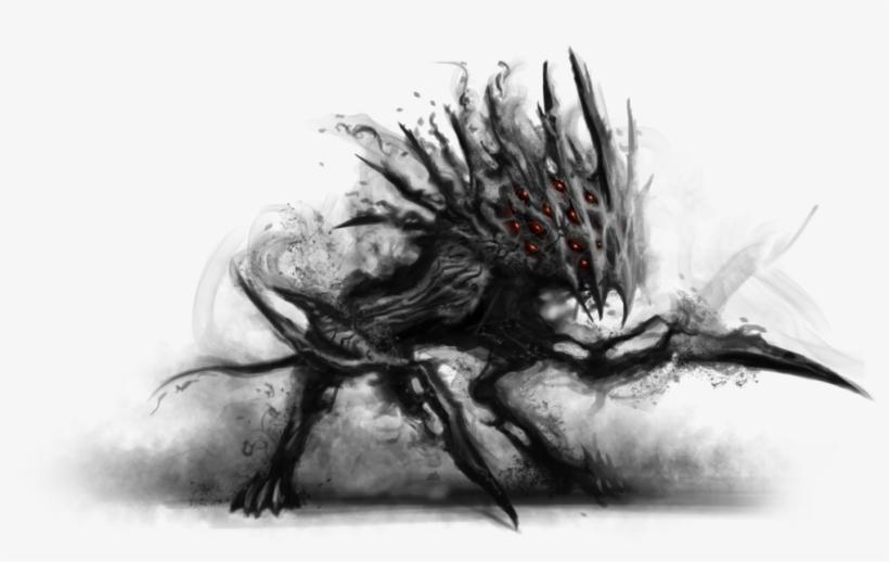 Dark Shadow Shadow Creature Transparent PNG - 1024x594