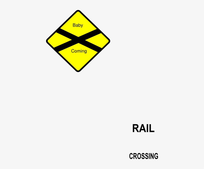 Train Railroad Sign Clip Art At Clker - Baby Crossing Sign