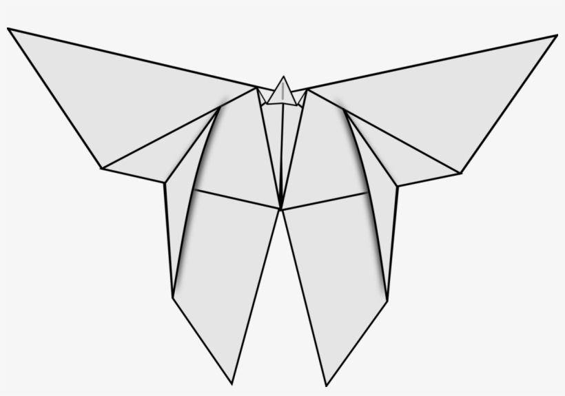 Sketch of origami crane isolated on white background. vector ... | 575x820