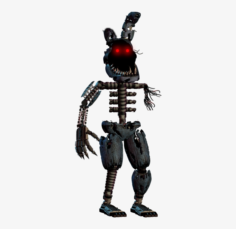 Ignited Nightmare Bonnie Withered Nightmare Bonnie Transparent Png 318x719 Free Download On Nicepng