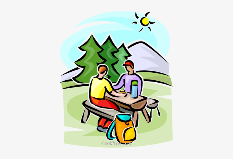 People Sitting At A Picnic Table Royalty Free Vector Transparent Png