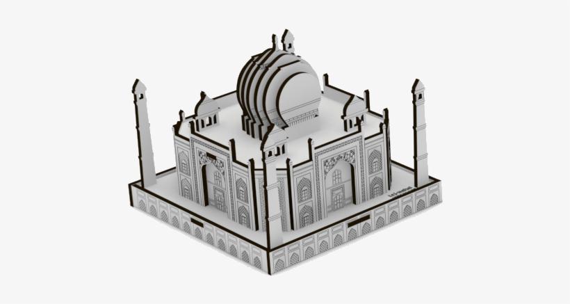 Saraswati - Taj Mahal Model Kit Transparent PNG - 506x700 - Free ...