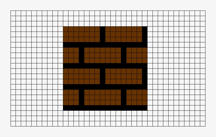 Super Mario Brick Pixel Art Grid Transparent PNG - 740x441 - Free
