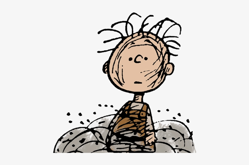 Surrounded By A Cloud Of Dust - Pigpen Peanuts Transparent PNG ...