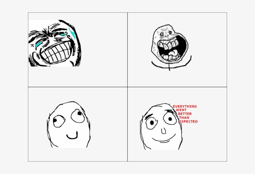 Rage Comic Faces List Love The Way You Lie Meme Transparent Png