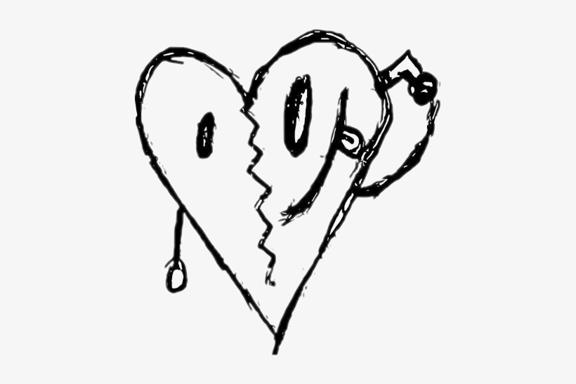 Xxxtentacion Bad Vibes Heart Transparent PNG - 436x467