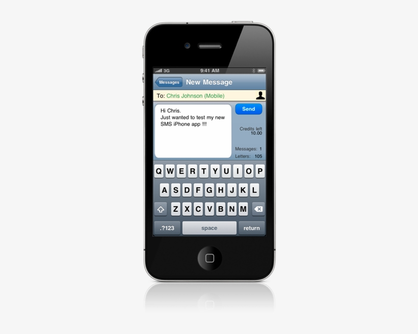 Doublesms Iphone Features Cell Phone Text Message Template