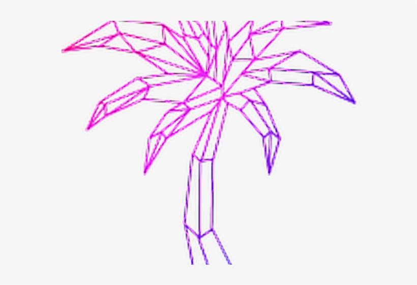 Vaporwave clip art. Clipart aesthetic palm trees