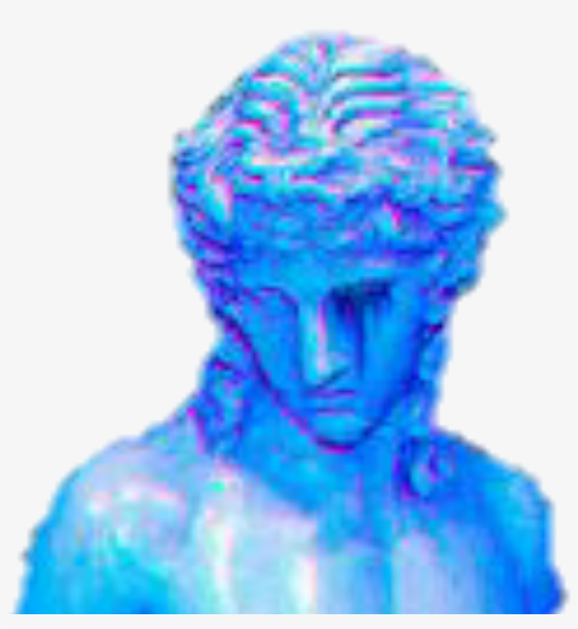 Art Vaporwave Lofi Sculpture Angel Blue Aesthetic Png