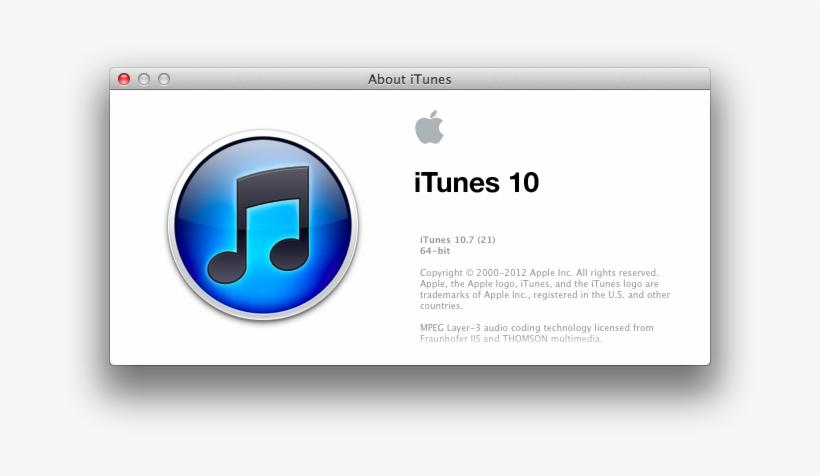 Itunes 10 - - Os X 10 5 8 Itunes 11 0 4 Transparent PNG