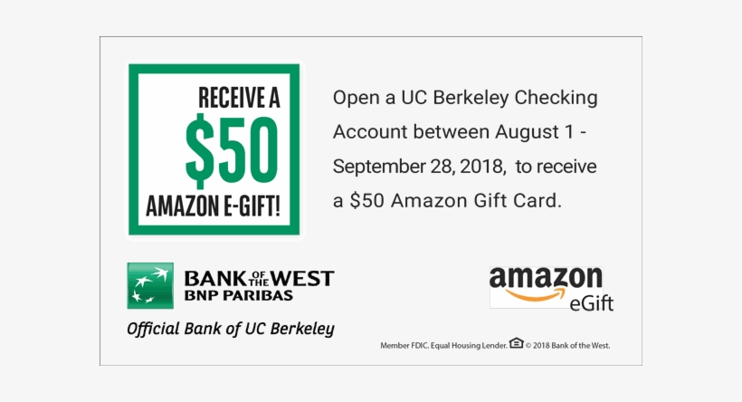 Bank Of The West 50 Amazon Gift Card Offer Uk Test Asin