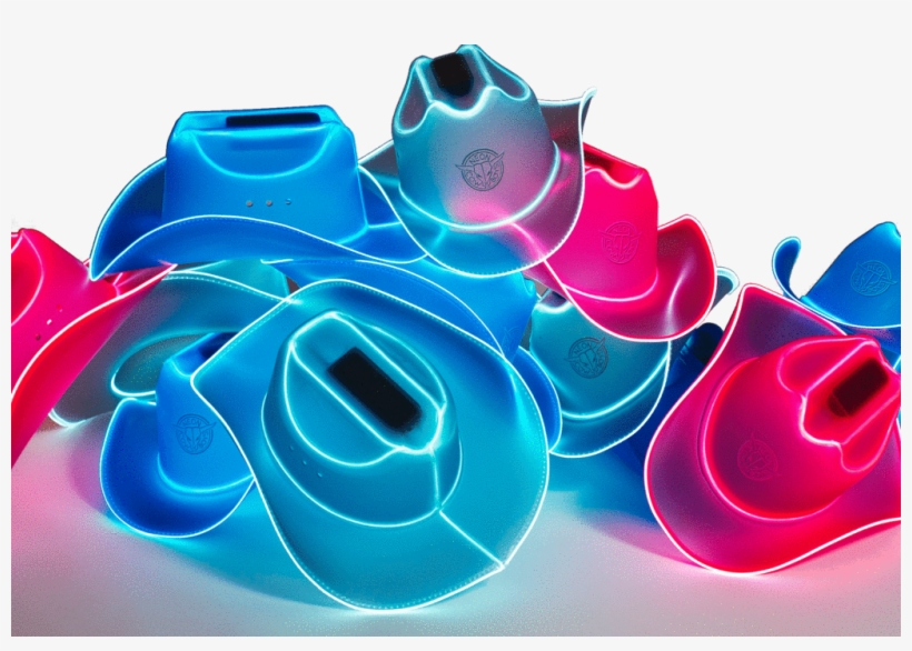 We Re Neon Cowboys We Produce Innovative Party Products Jpeg Transparent Png 1023x682 Free Download On Nicepng Wearable tech light up cowboy hats that glow like neon signs. nicepng