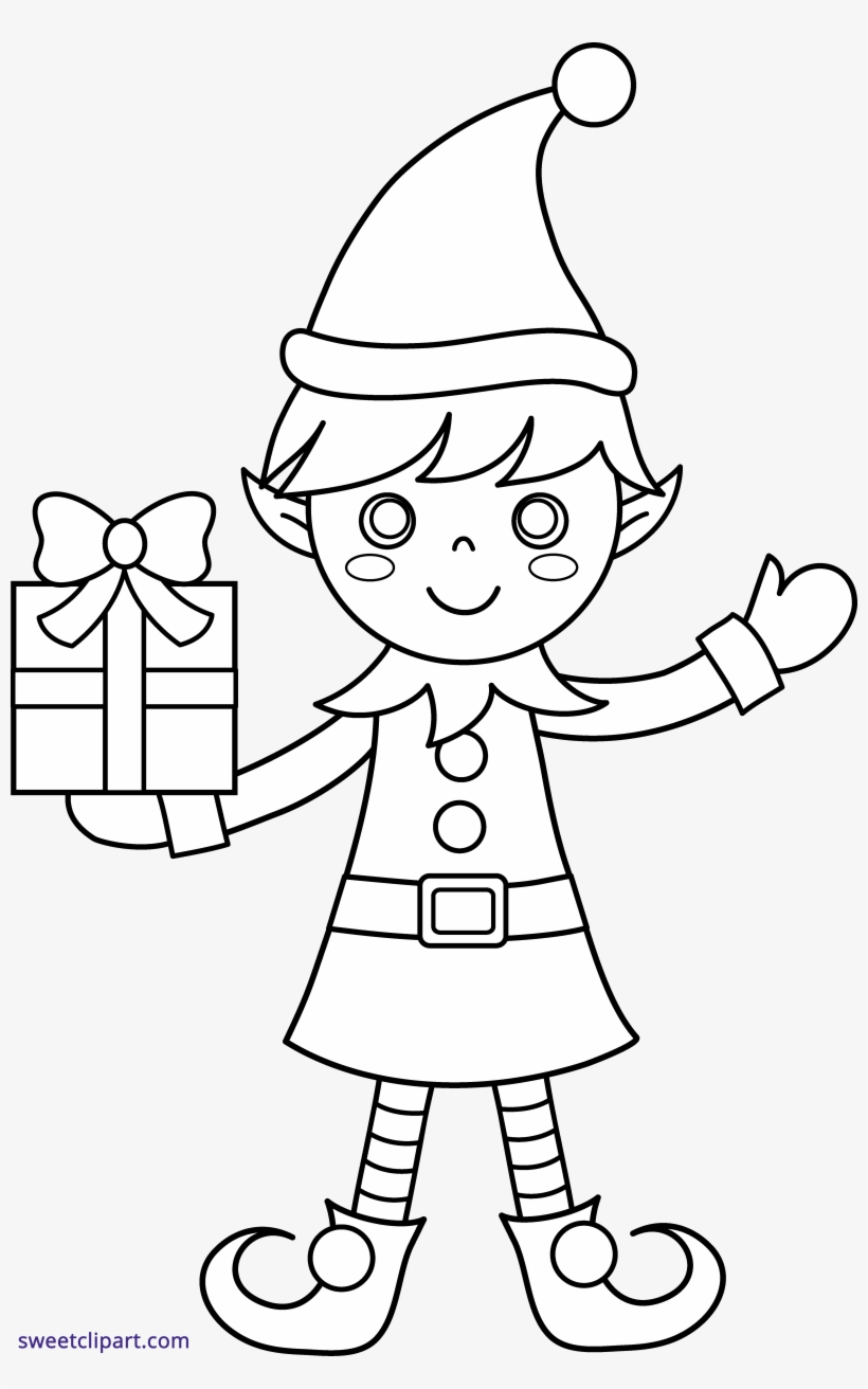 Free Printable Elf Coloring Pages For Kids | 1312x820