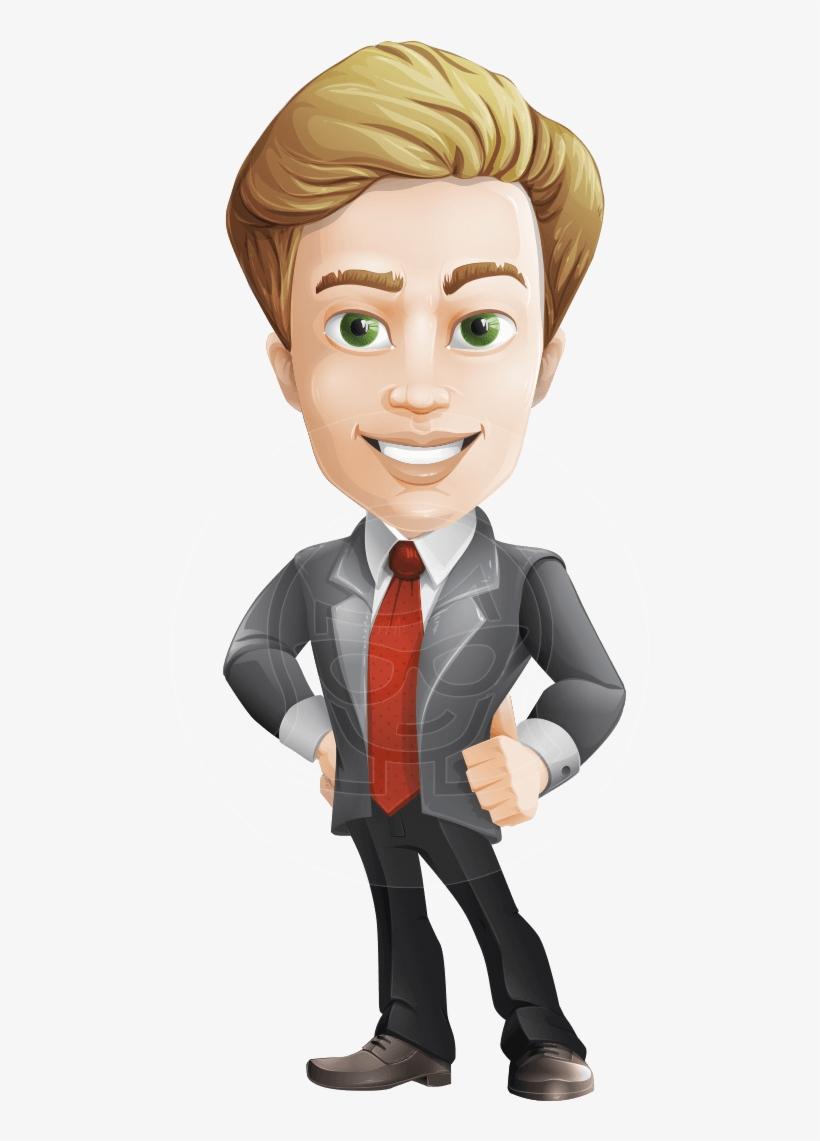 Blonde Character Inspiration: Male Cartoon Character, Elegant Blond Man Vector