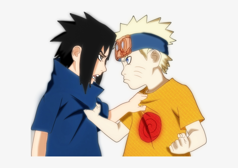 Naruto And Sasuke As Kids - Naruto And Sasuke Png