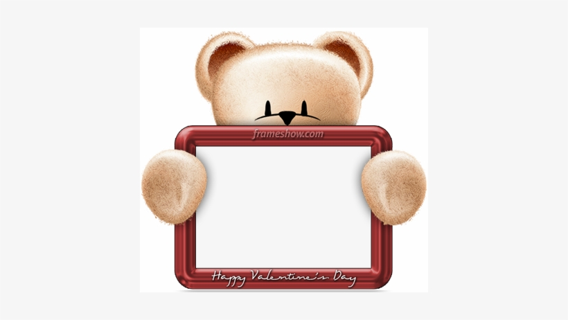 Valentines Day Frame Png Free Download Teddy Bear Photo Frame Png