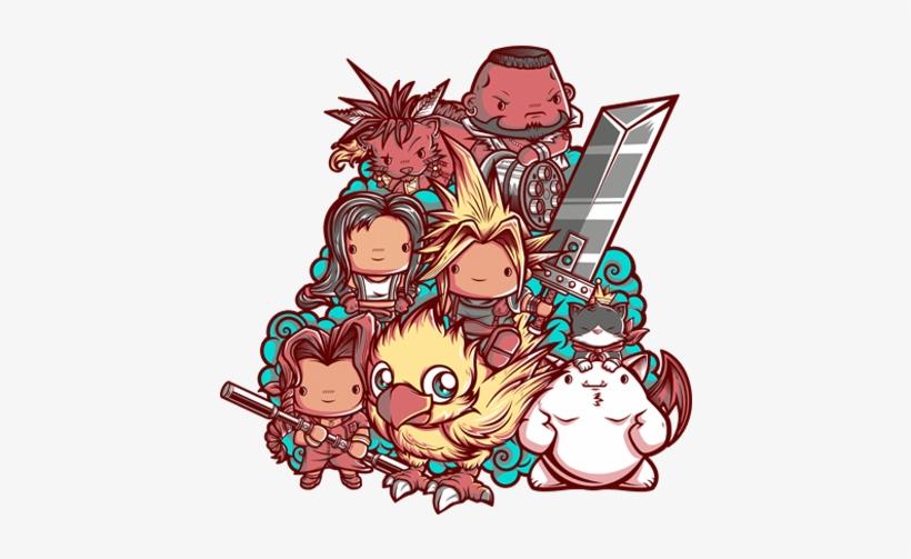Cute Fantasy Vii Final Fantasy Art T Shirt Transparent Png