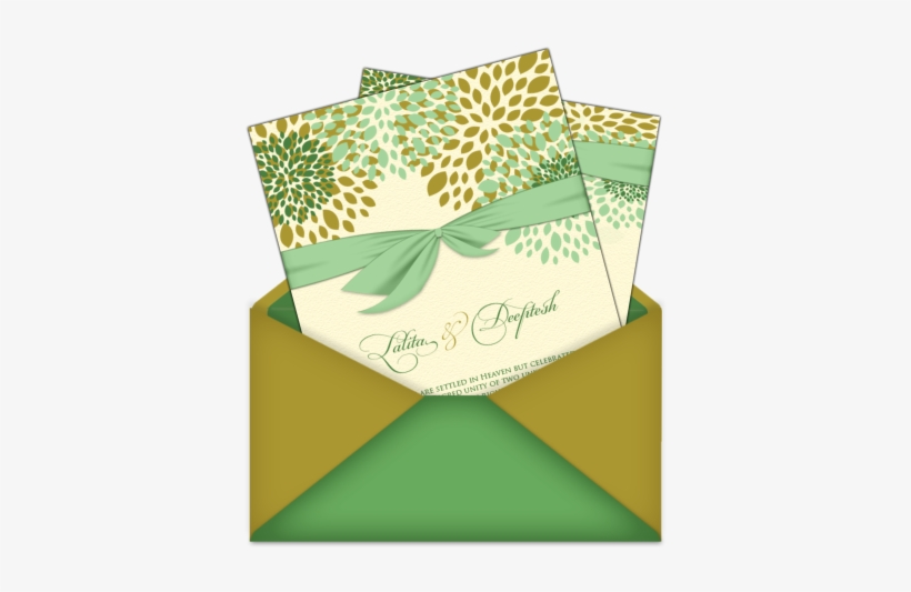 Letter Style Email Indian Wedding Card Design Mint Green