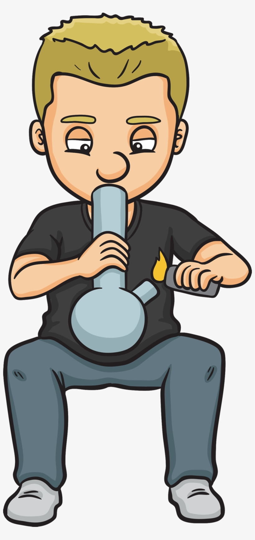 Healthy Monger Someone Smoking Weed Cartoon Transparent Png