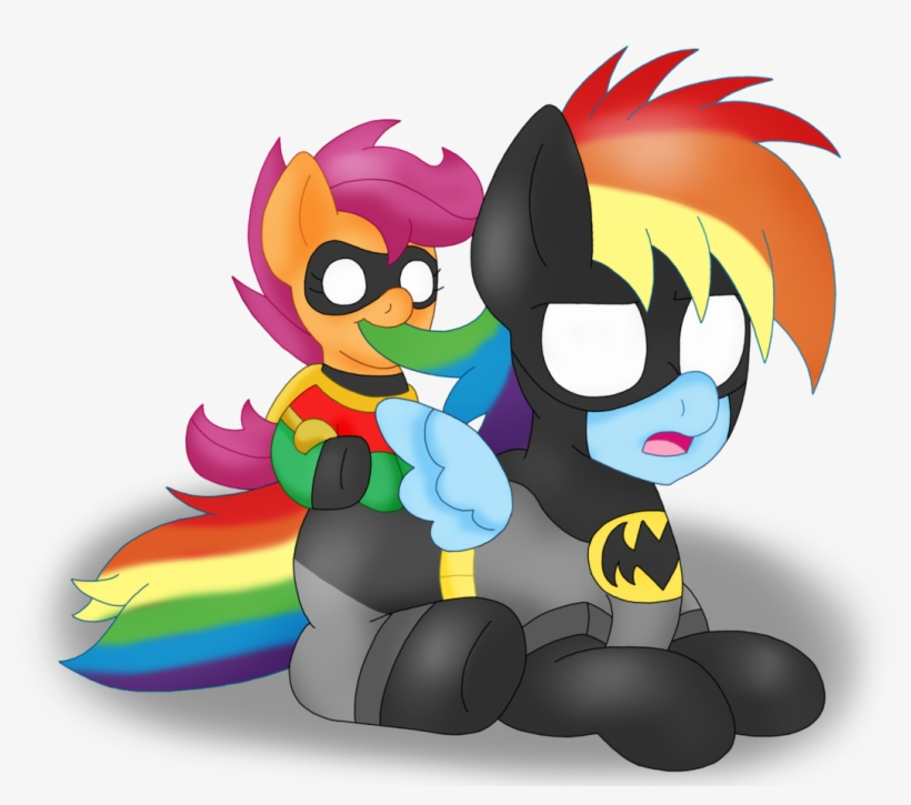 Blackbewhite2k7, Baby, Baby Pony, Baby Scootaloo, Batman, - My Little Pony:  Friendship Is Magic Transparent PNG - 1178x1024 - Free Download On NicePNG