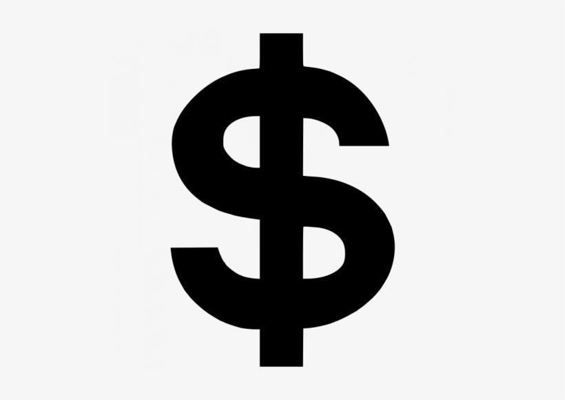 5705 Money Symbol Clipart - Black Dollar Sign Png