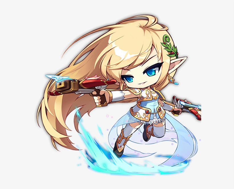 Mercedes Maplestory New Art - Mercedes Maplestory Transparent PNG