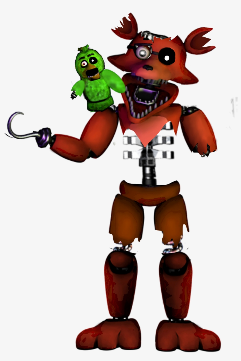 Fnaf Stylized Withered Foxy Png Foxy Withered Fnaf