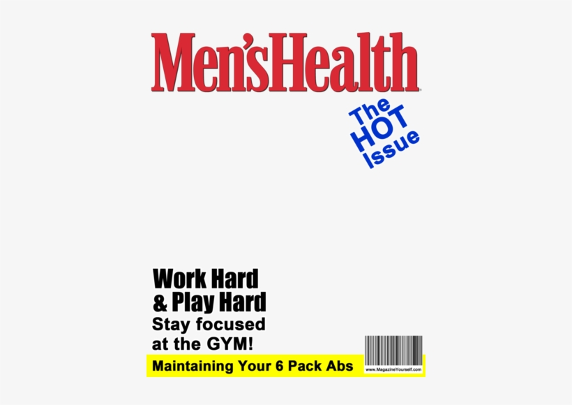 Create A Fake Men S Health Magazine Cover Mens Magazine Cover Template Transparent Png 400x500 Free Download On Nicepng