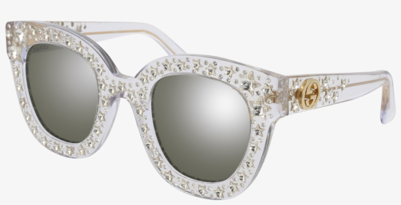 df13e26b941 Fashion Glasses Png - Gucci Clear Star Sunglasses Transparent PNG ...