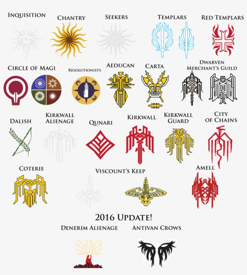 Dragon Age Crest Super Pack By Thedalishranger Dragon Age Hawke