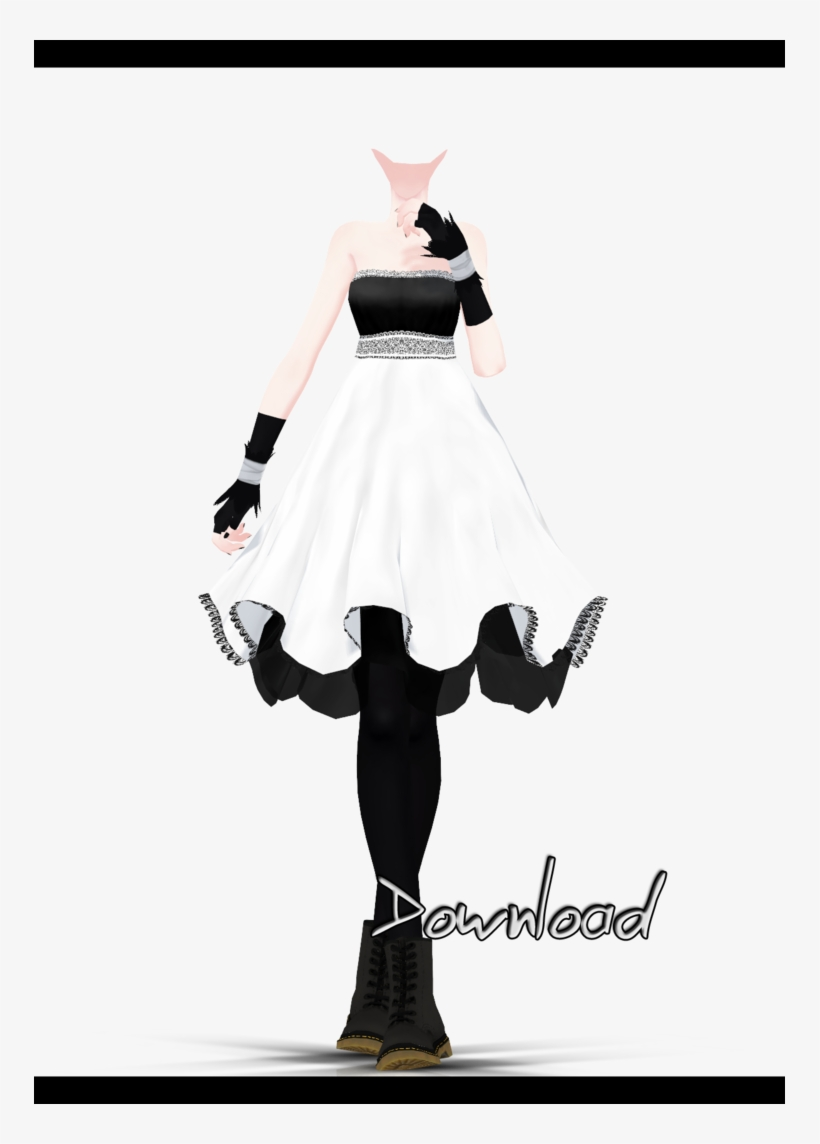 mmd] Dress Base - Mmd Outfits With Base Transparent PNG