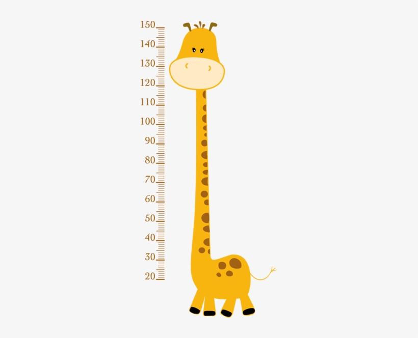 Regla Medir Vinilo Bebe Baby Giraffe Clip Art Transparent Png