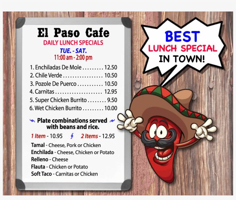 Best Mexican Restaurants Near Me, Lunch Specials El - Lunch Specials Near Me  Transparent PNG - 1000x800 - Free Download on NicePNG