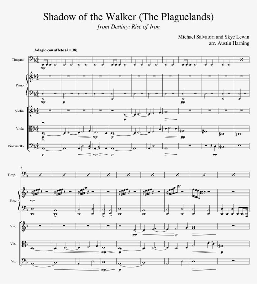 print - destiny rise of iron theme sheet music transparent png - 850x1100 -  free download on nicepng  nicepng