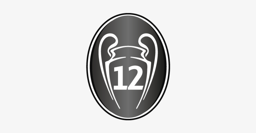 uefa ucl adult badge of honour real madrid 13 champions league logo transparent png 400x400 free download on nicepng real madrid 13 champions league logo