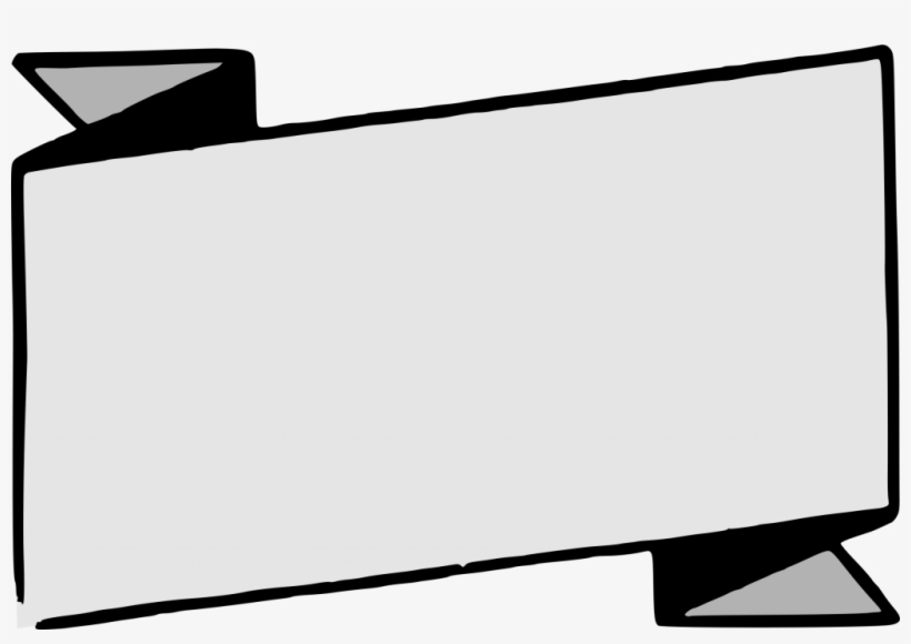Banner Vector Black And White Png - Blank Banner Template Png