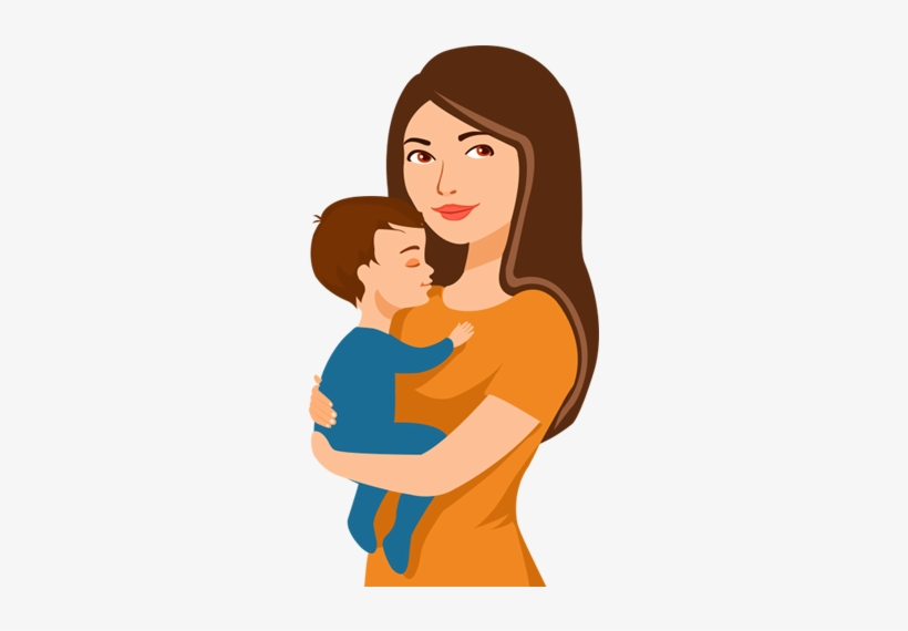 First Visit Mother And Baby Cartoon Png Transparent Png 500x527 Free Download On Nicepng