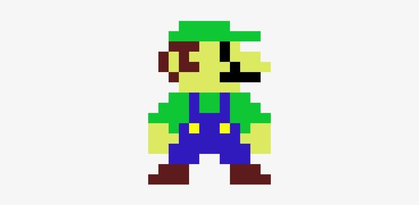 Luigi Mario Pixel Art Transparent Png 380x440 Free