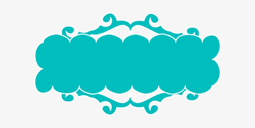 Teal Swirly Banner Clip Art At Clker - Teal Banner Clip ...