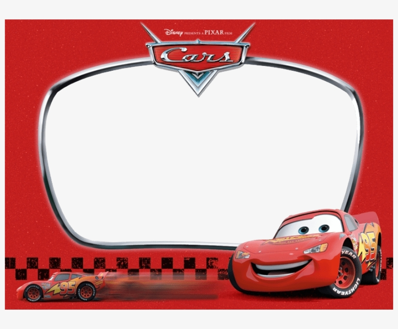Credit To Cars Disney Invitation Template Transparent Png