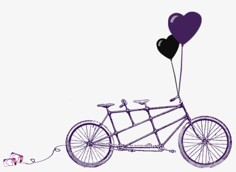 Purple Tandem Bike Wedding Invitation Template A Violet Wedding
