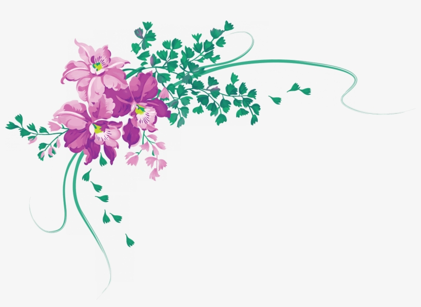 Render Flowers Fleurs Coin Nature Autresinconnu Png Vintage