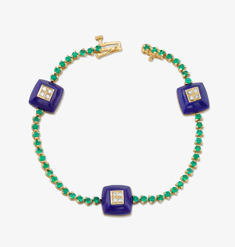 Diamond And Lapis Emerald Pyramid Bracelet Porte Nom De Table