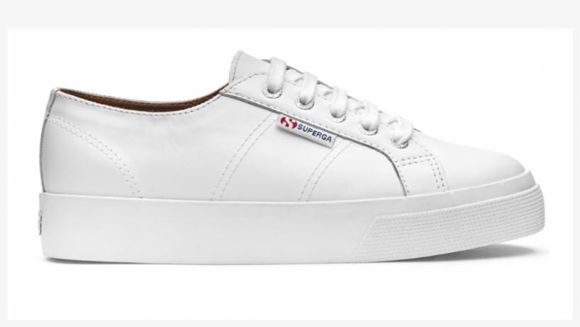 White Nappa Leather Platform - Superga