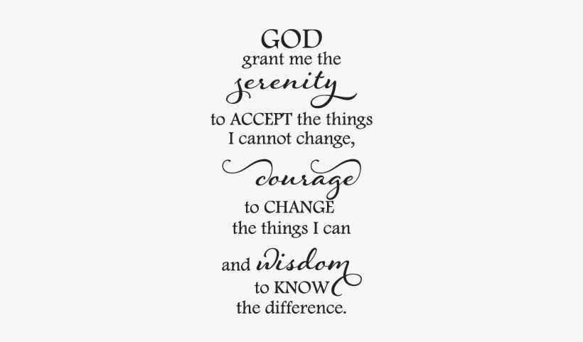 Serenity Prayer Elegant Wall Quotes™ Decal Perfect - Full ...