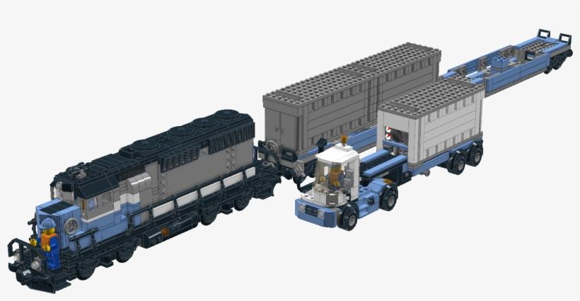 10219 Maersk Locomotive Lego Maersk Train Ldd Transparent Png