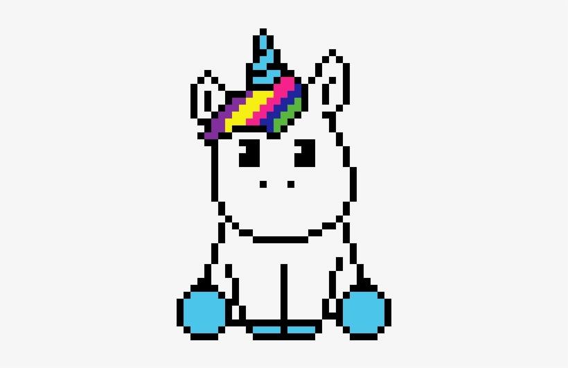 Unicornio Pixel Art Unicorn Kawaii Transparent Png 370x510