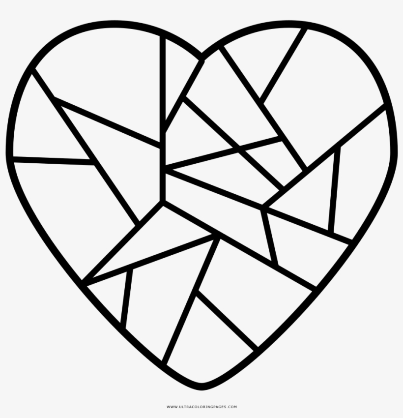 Broken Heart Coloring Page Ultra Coloring Pages - Dibujo ...